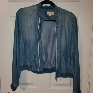 CLOTH & STONE SOFT JEAN BOMBER JACKET